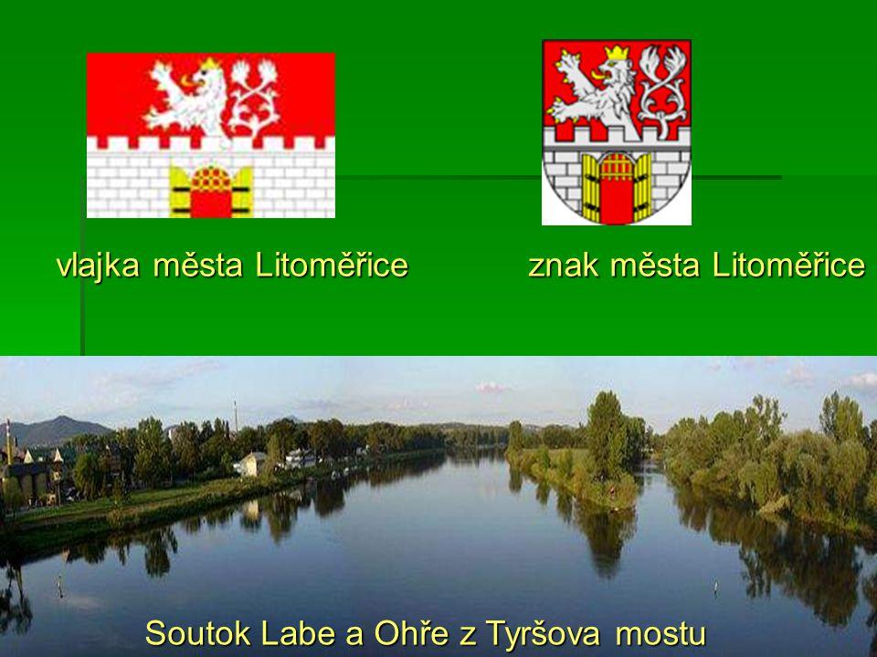 vlajka města Litoměřice znak města Litoměřice