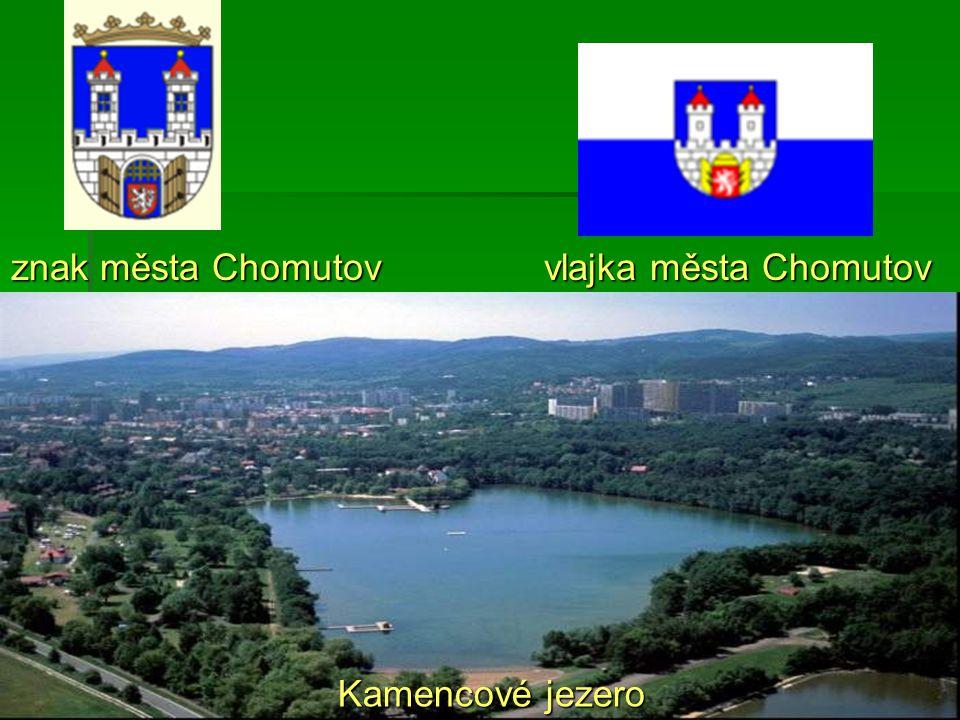 znak města Chomutov vlajka města Chomutov Kamencové jezero