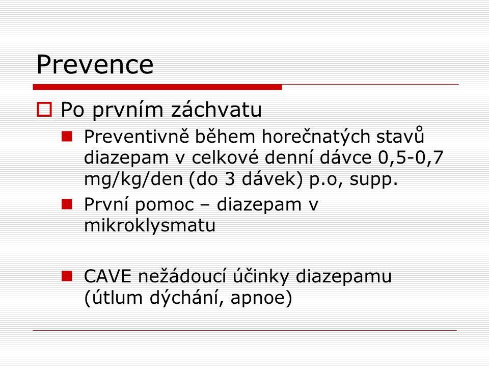 Prevence Po prvním záchvatu