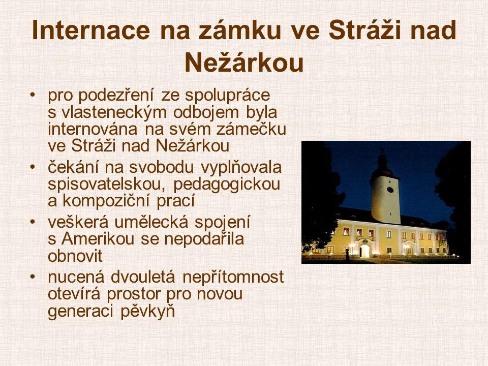 Internace na zámku ve Stráži nad Nežárkou