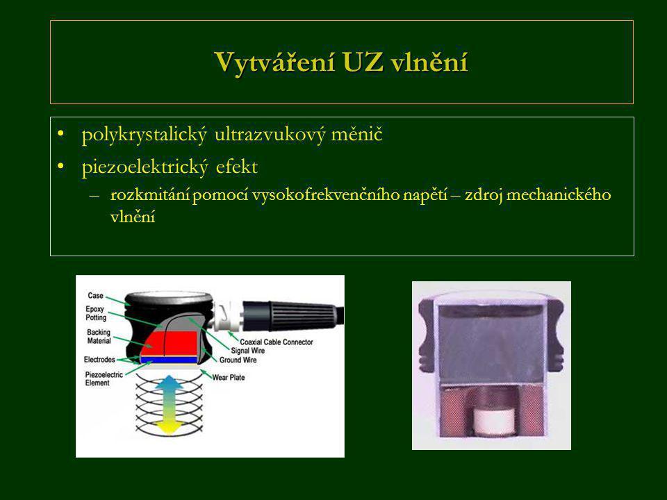 Vytváření UZ vlnění polykrystalický ultrazvukový měnič