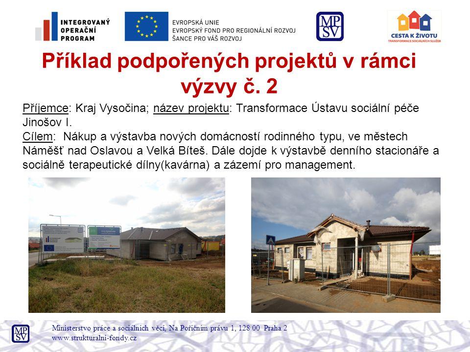 Příklad podpořených projektů v rámci výzvy č. 2