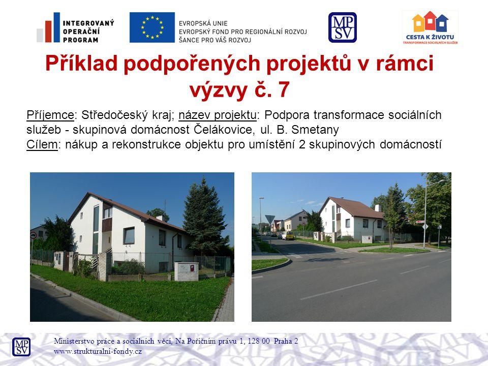 Příklad podpořených projektů v rámci výzvy č. 7