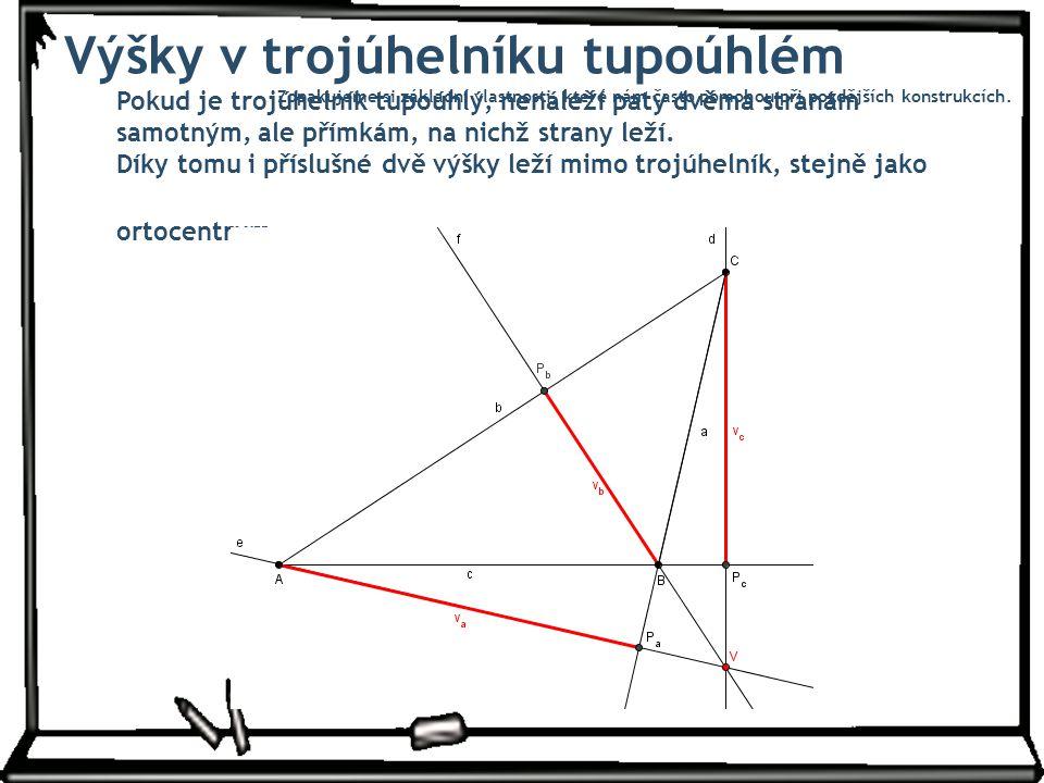 Výšky v trojúhelníku tupoúhlém
