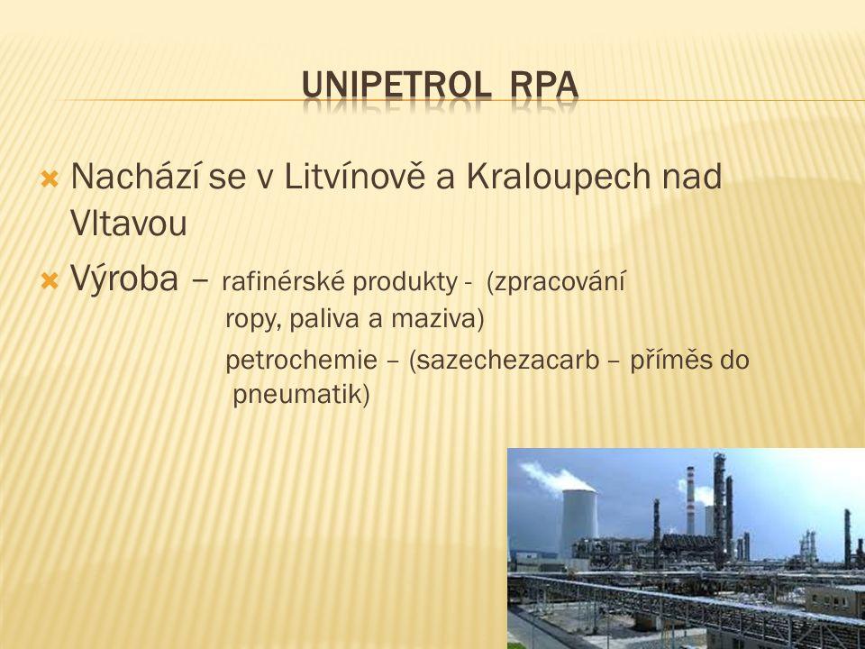 Nachází se v Litvínově a Kraloupech nad Vltavou