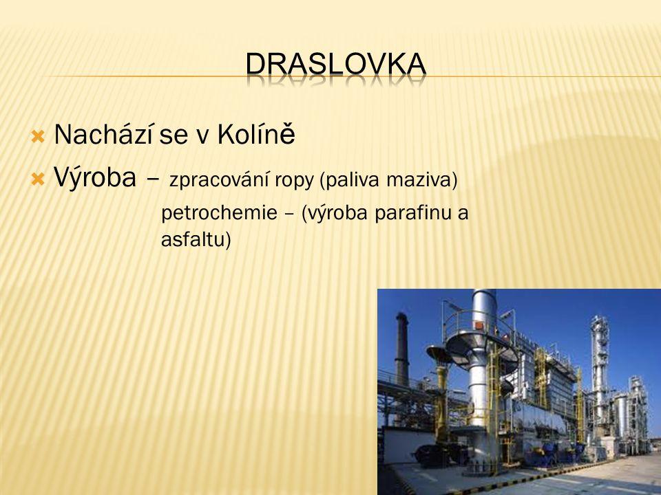 Výroba – zpracování ropy (paliva maziva)