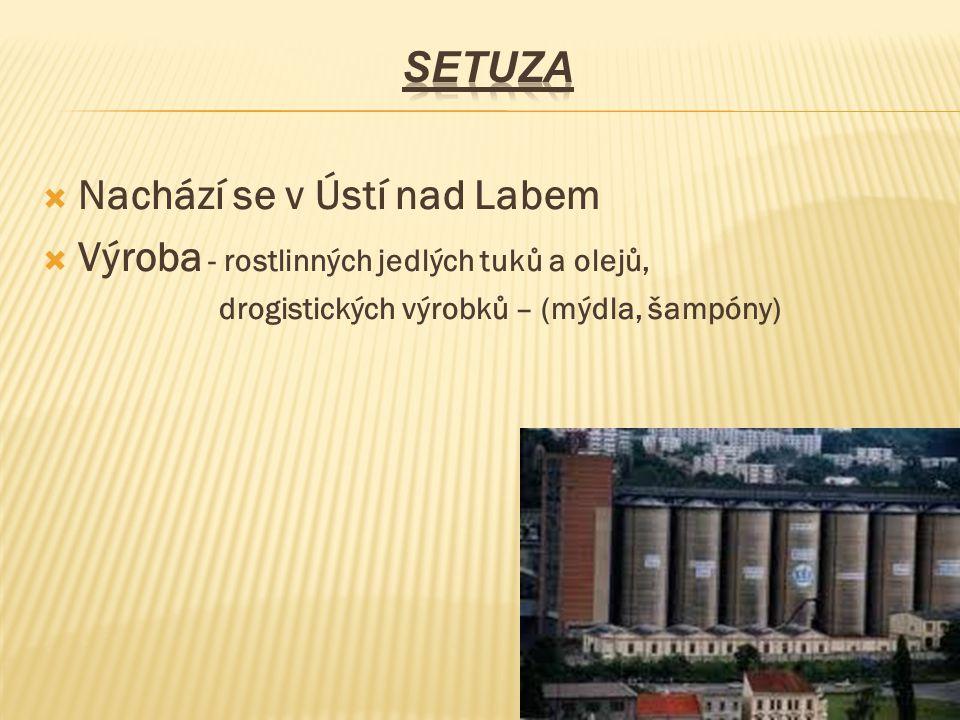 Nachází se v Ústí nad Labem Výroba - rostlinných jedlých tuků a olejů,
