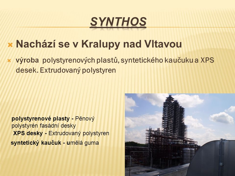 Synthos Nachází se v Kralupy nad Vltavou