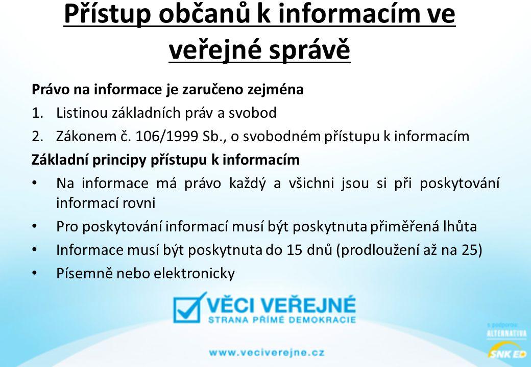 Přístup občanů k informacím ve veřejné správě