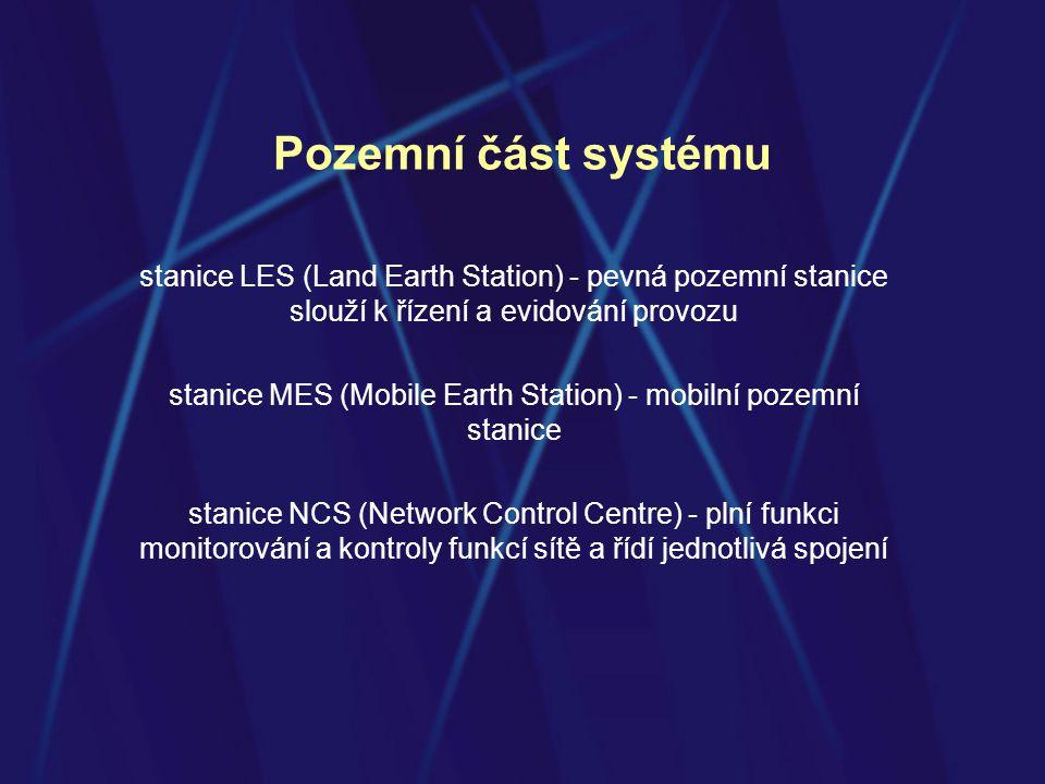 stanice MES (Mobile Earth Station) - mobilní pozemní stanice