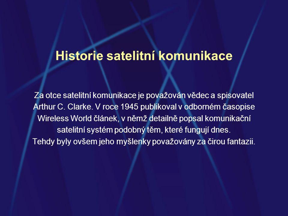 Historie satelitní komunikace