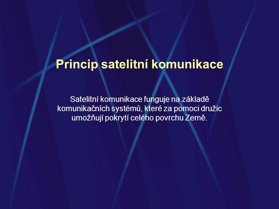 Princip satelitní komunikace
