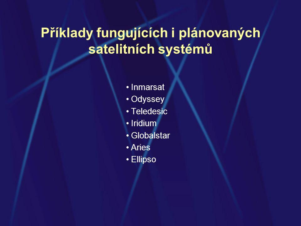 Příklady fungujících i plánovaných satelitních systémů