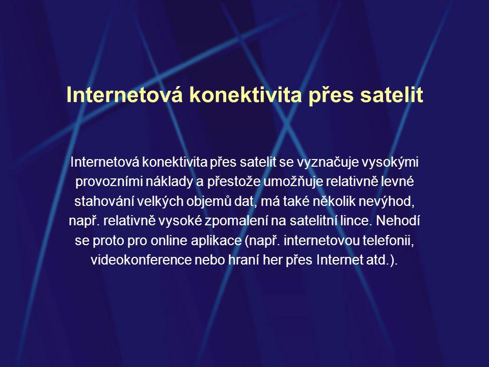 Internetová konektivita přes satelit
