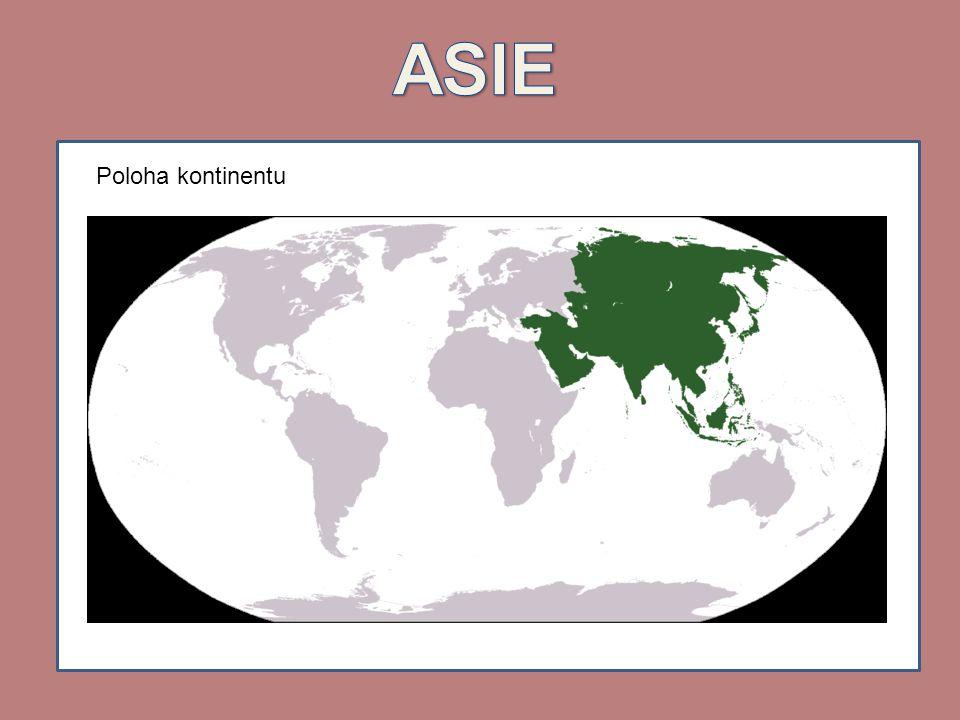 ASIE Poloha kontinentu