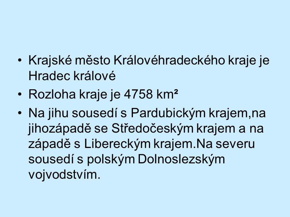 Krajské město Královéhradeckého kraje je Hradec králové