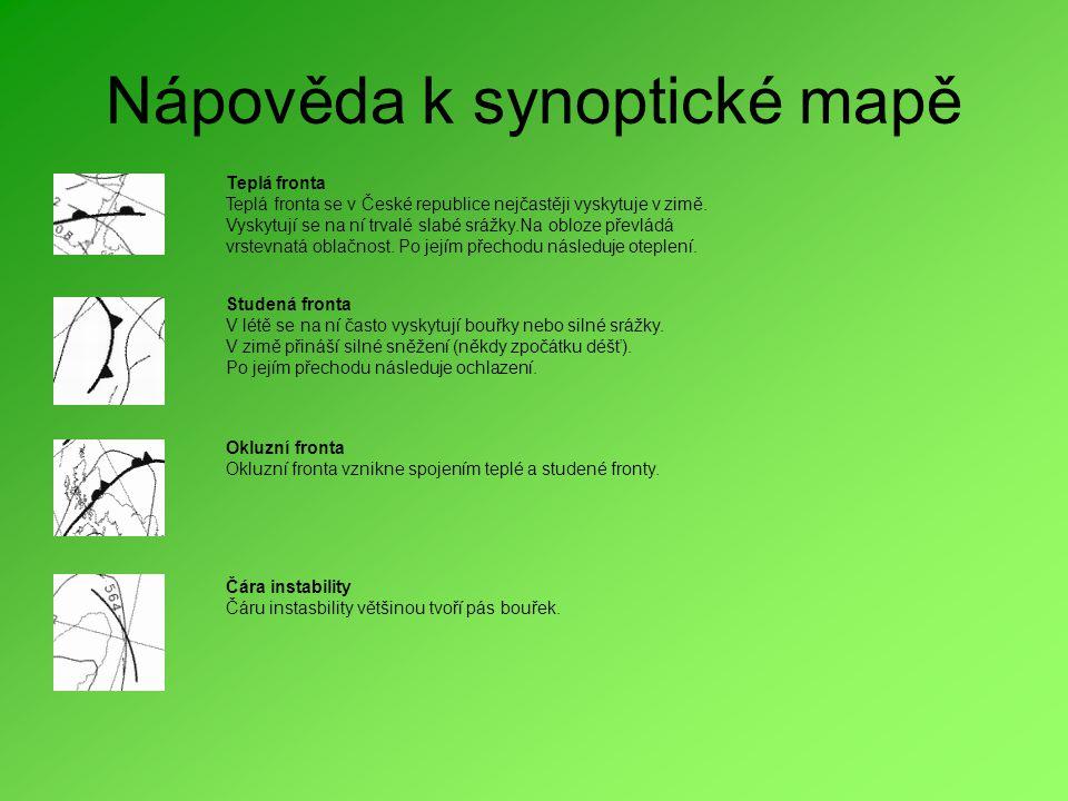 Nápověda k synoptické mapě
