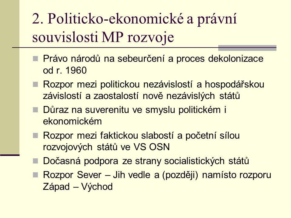 2. Politicko-ekonomické a právní souvislosti MP rozvoje