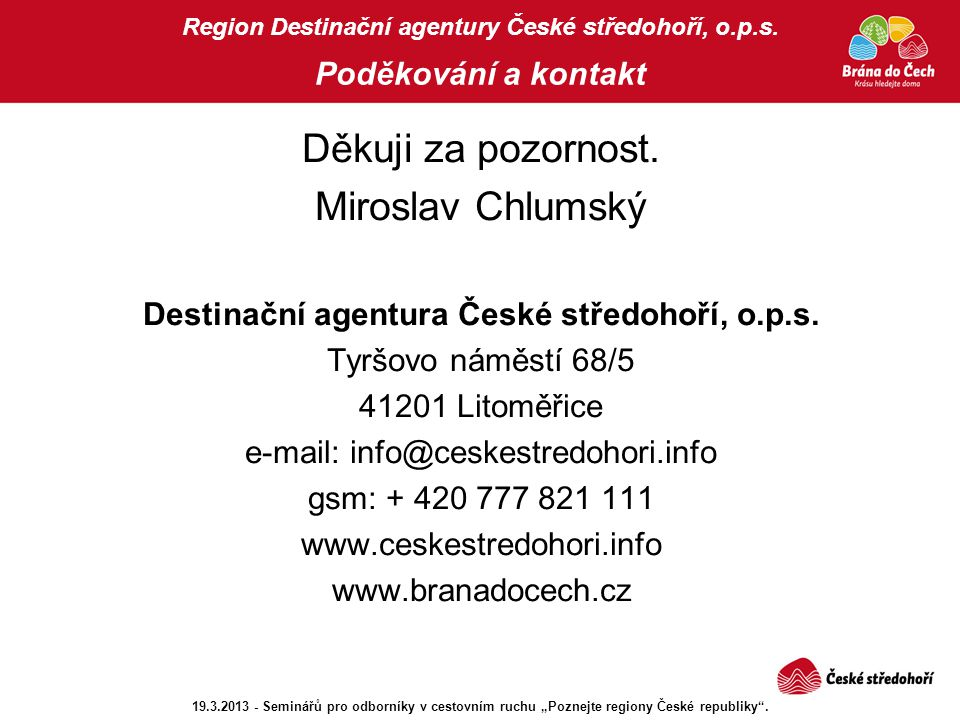 Destinační agentura České středohoří, o.p.s.