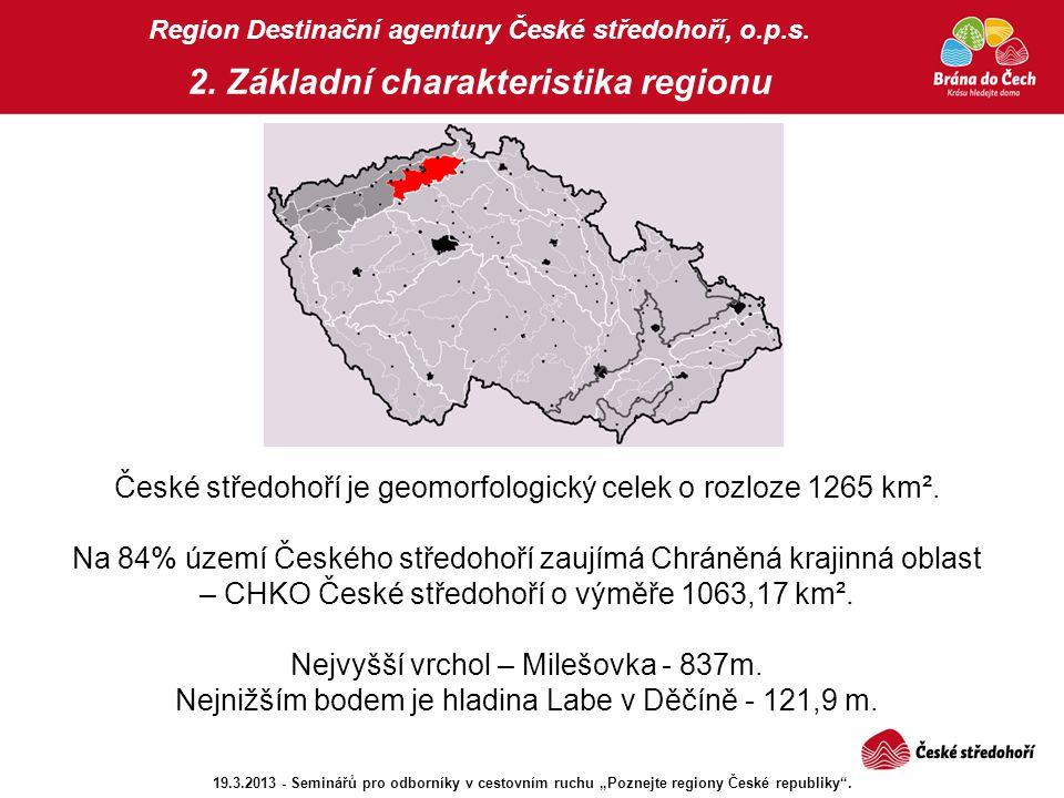 České středohoří je geomorfologický celek o rozloze 1265 km².