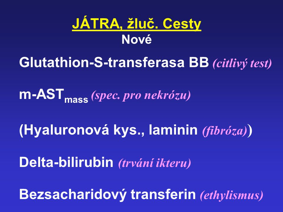 Glutathion-S-transferasa BB (citlivý test)