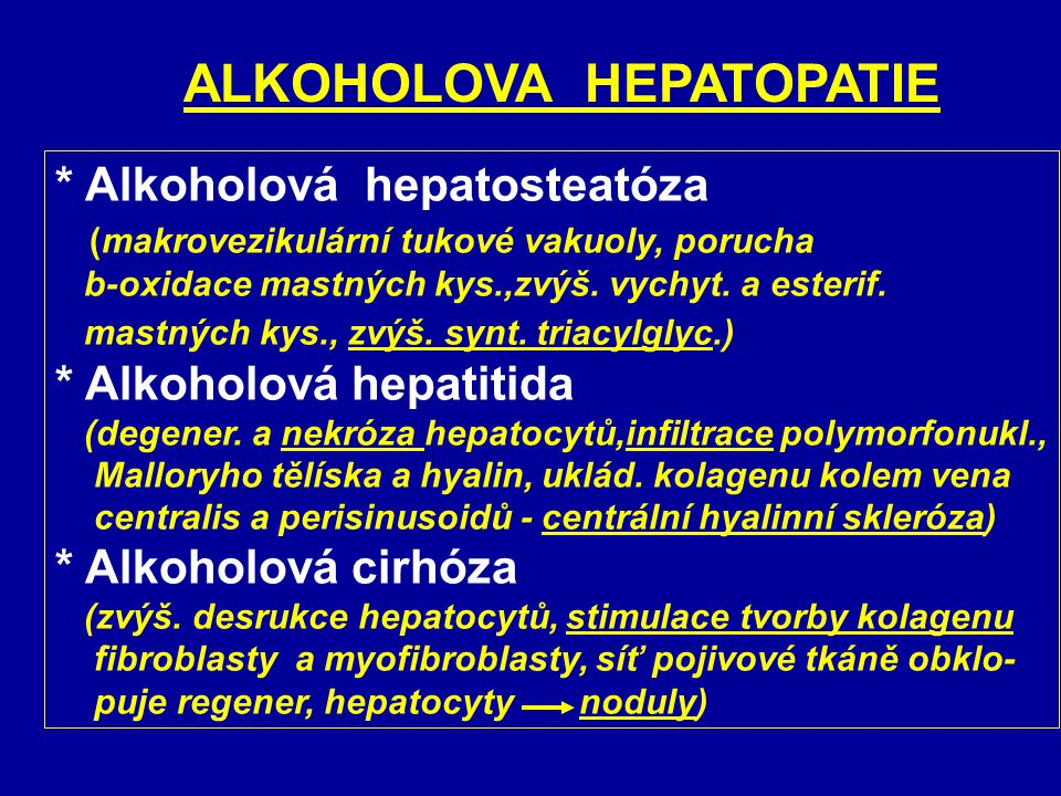 ALKOHOLOVA HEPATOPATIE