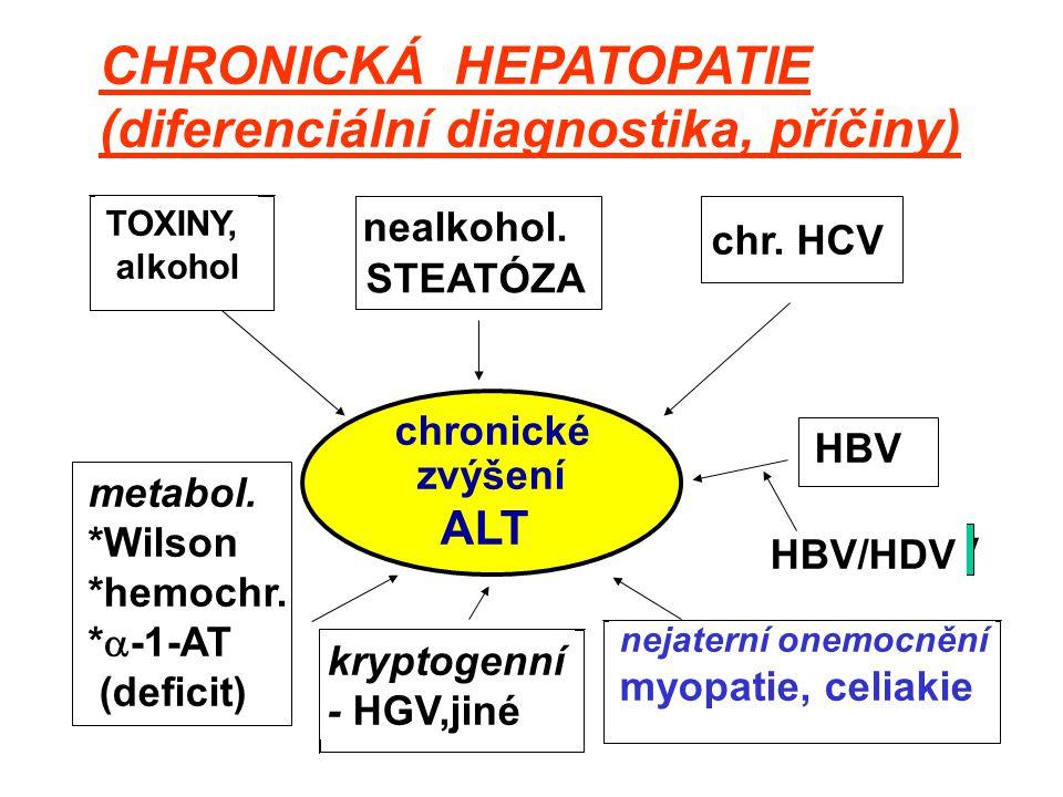 CHRONICKÁ HEPATOPATIE (diferenciální diagnostika, příčiny)