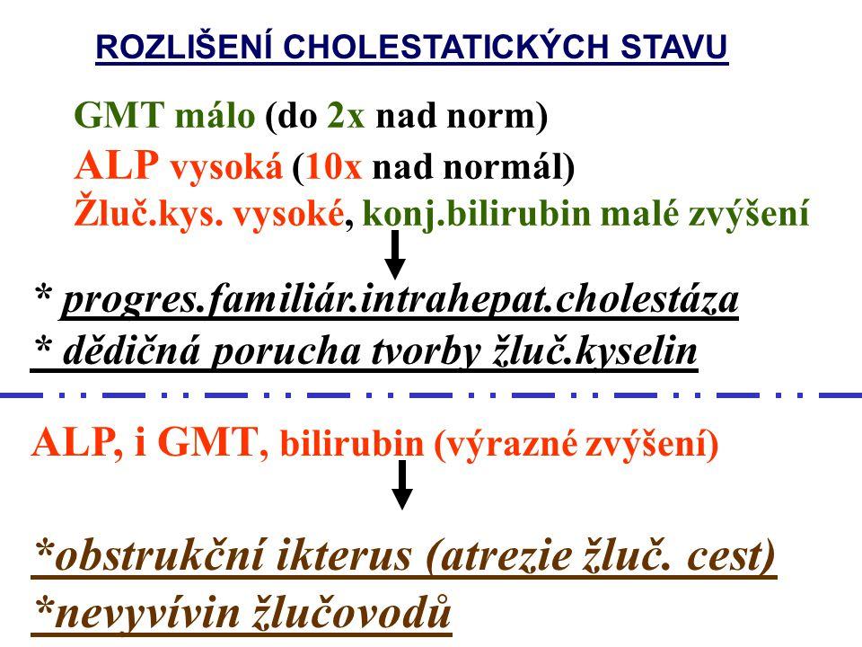 *obstrukční ikterus (atrezie žluč. cest) *nevyvívin žlučovodů