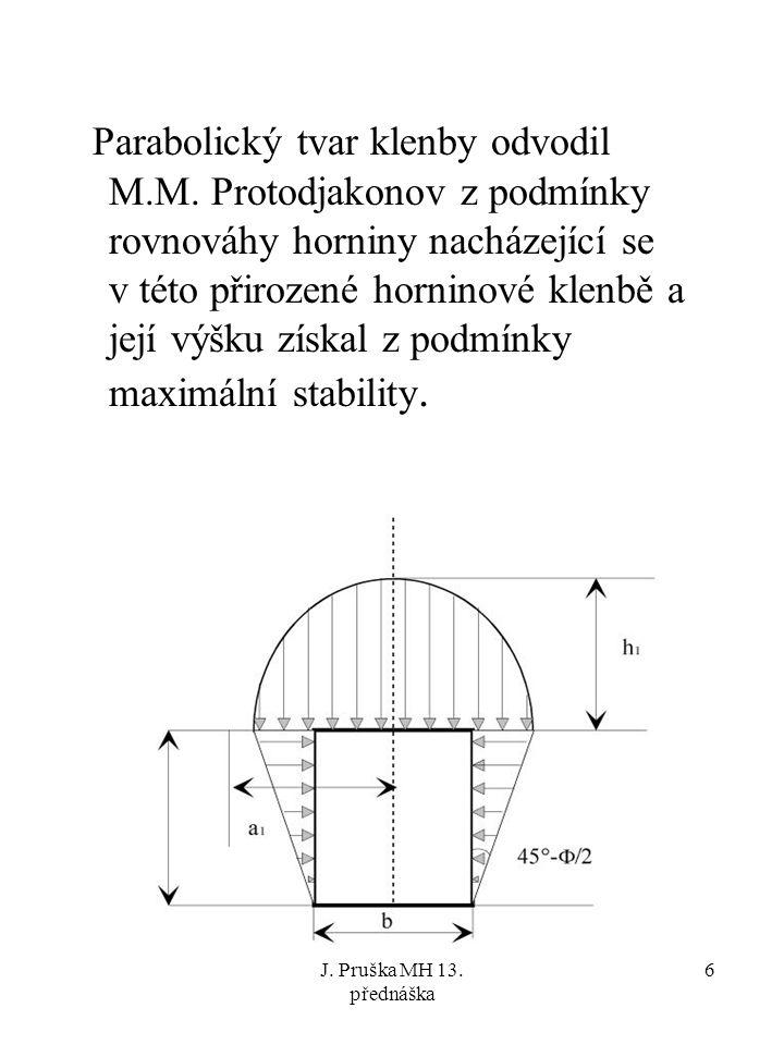 Parabolický tvar klenby odvodil M. M