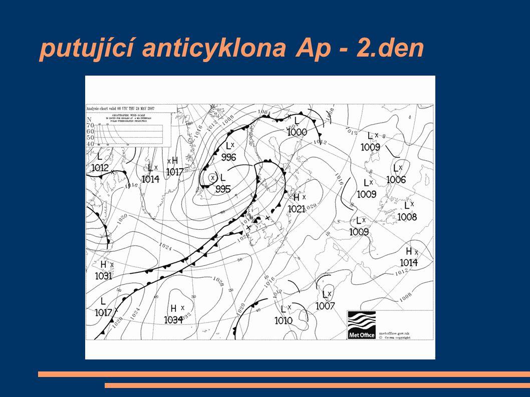 putující anticyklona Ap - 2.den