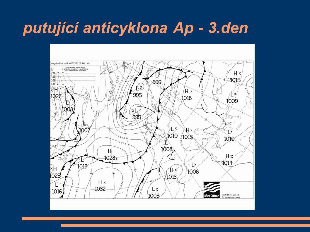 putující anticyklona Ap - 3.den
