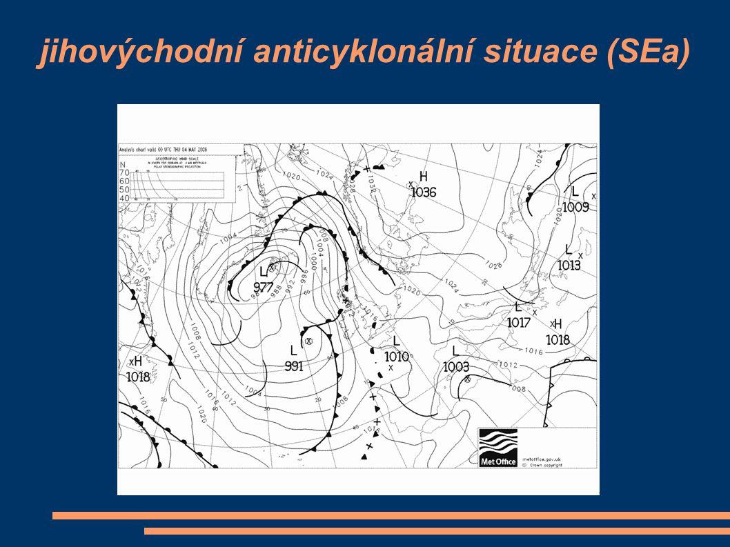 jihovýchodní anticyklonální situace (SEa)