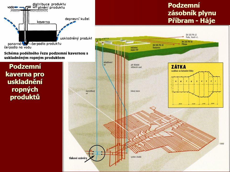 Podzemní kaverna pro uskladnění ropných produktů
