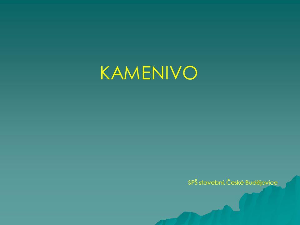 KAMENIVO SPŠ stavební, České Budějovice