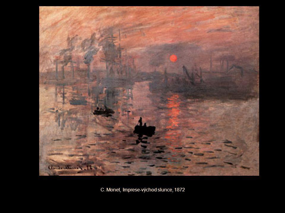 C. Monet, Imprese-východ slunce, 1872