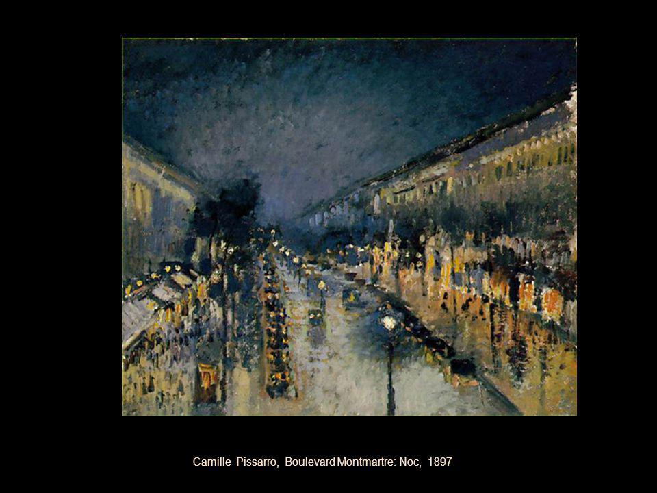 Camille Pissarro, Boulevard Montmartre: Noc, 1897