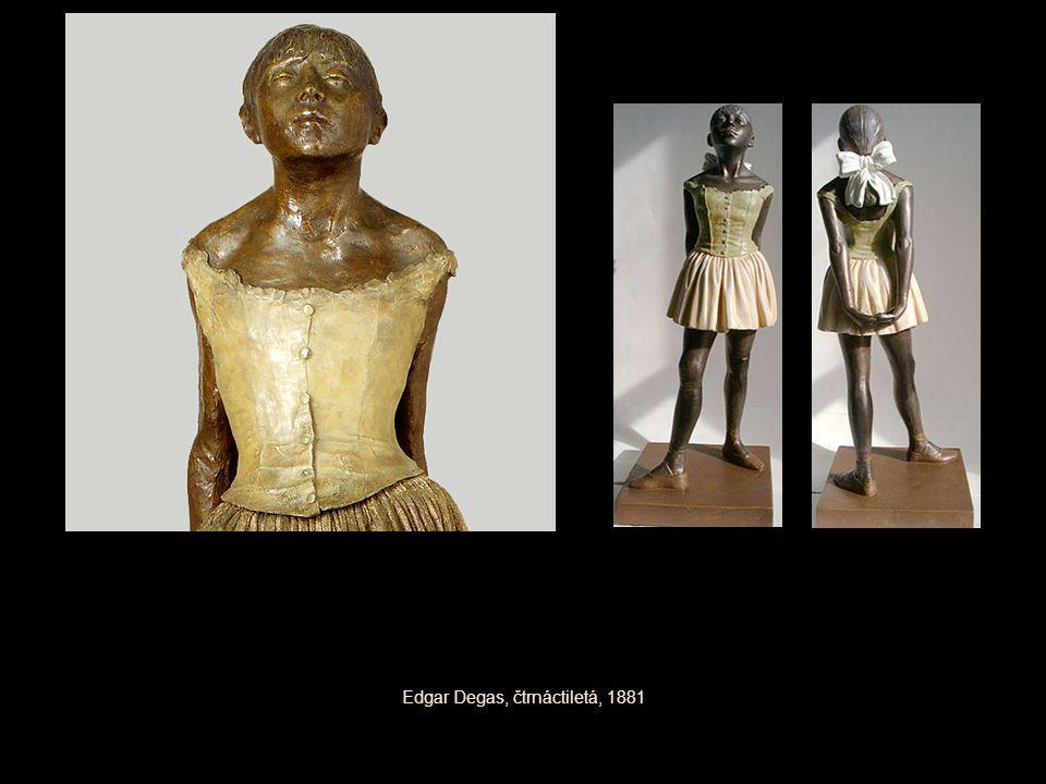 Edgar Degas, čtrnáctiletá, 1881