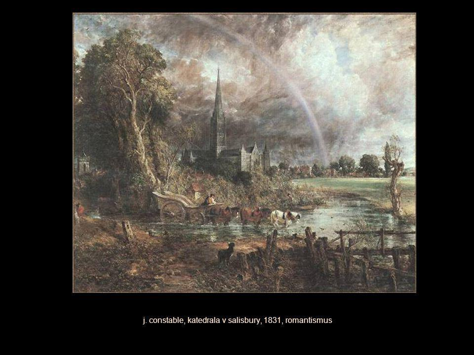 j. constable, katedrala v salisbury, 1831, romantismus