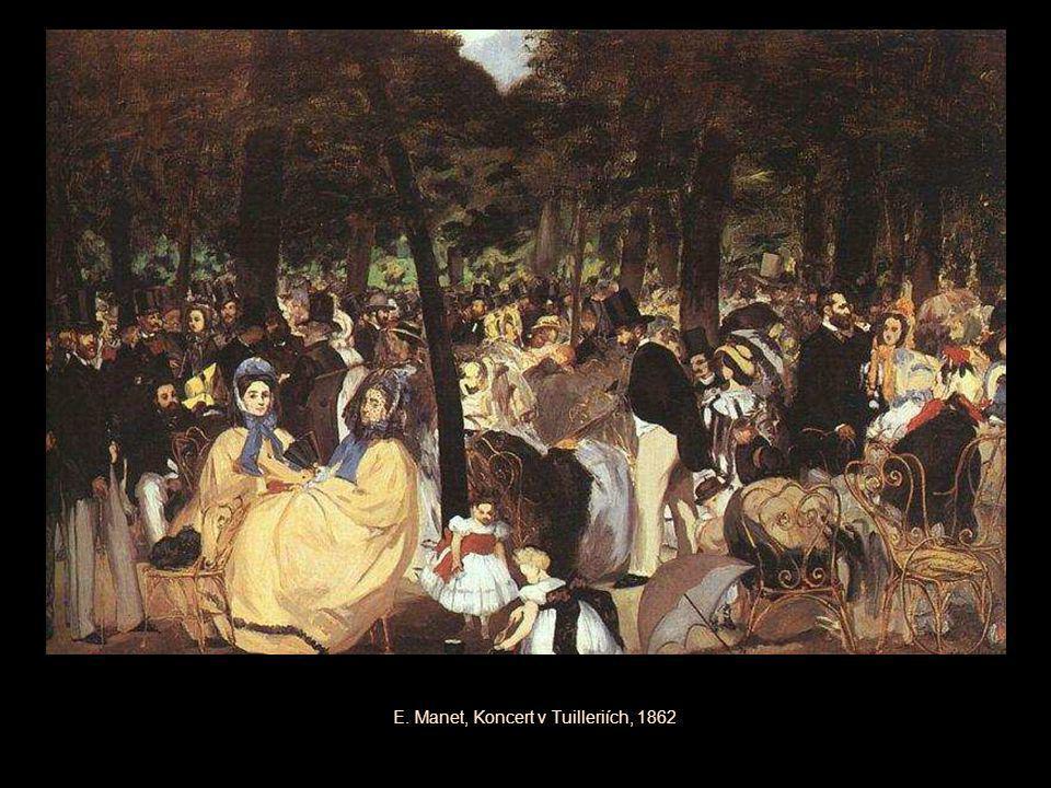 E. Manet, Koncert v Tuilleriích, 1862