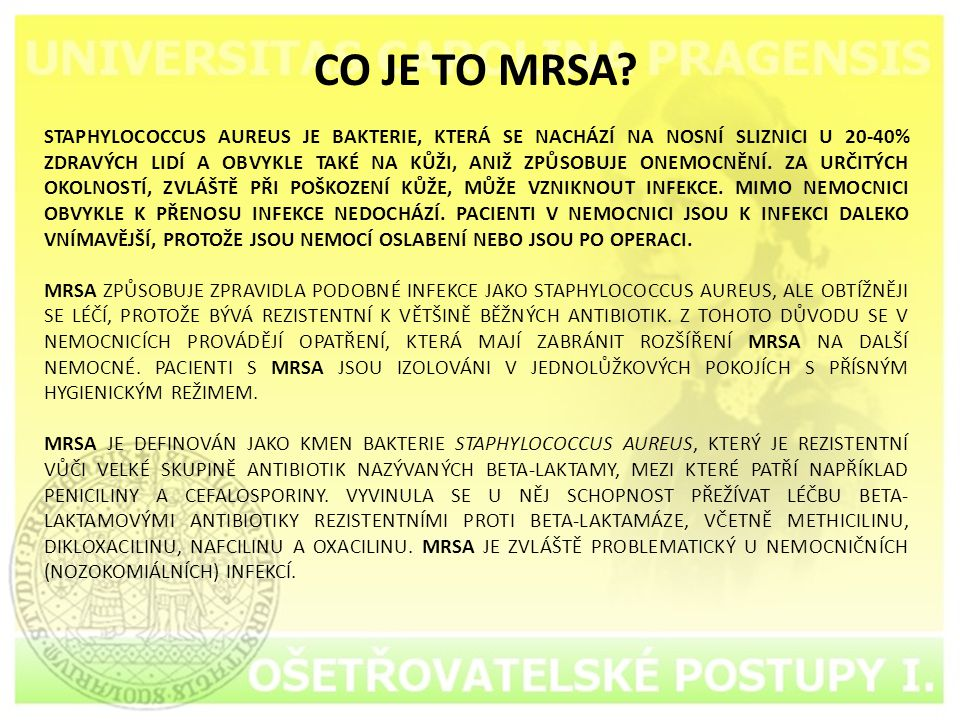 CO JE TO MRSA