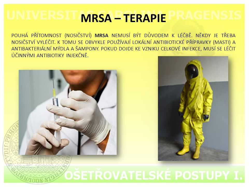 MRSA – TERAPIE