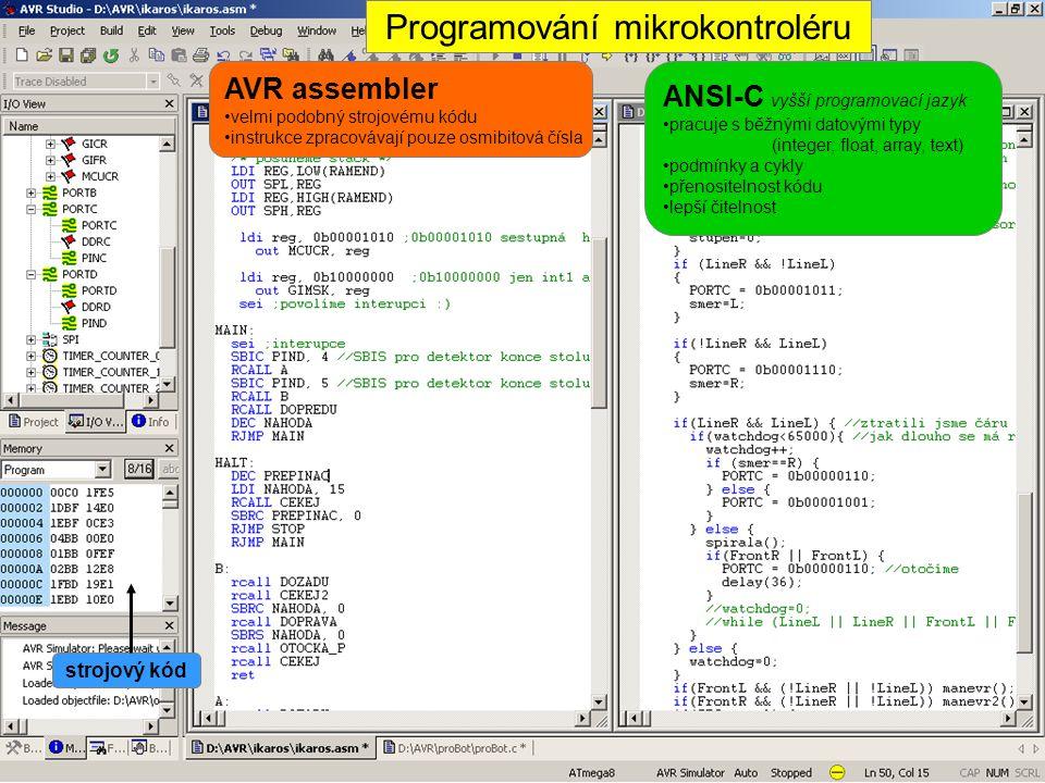 Programování mikrokontroléru