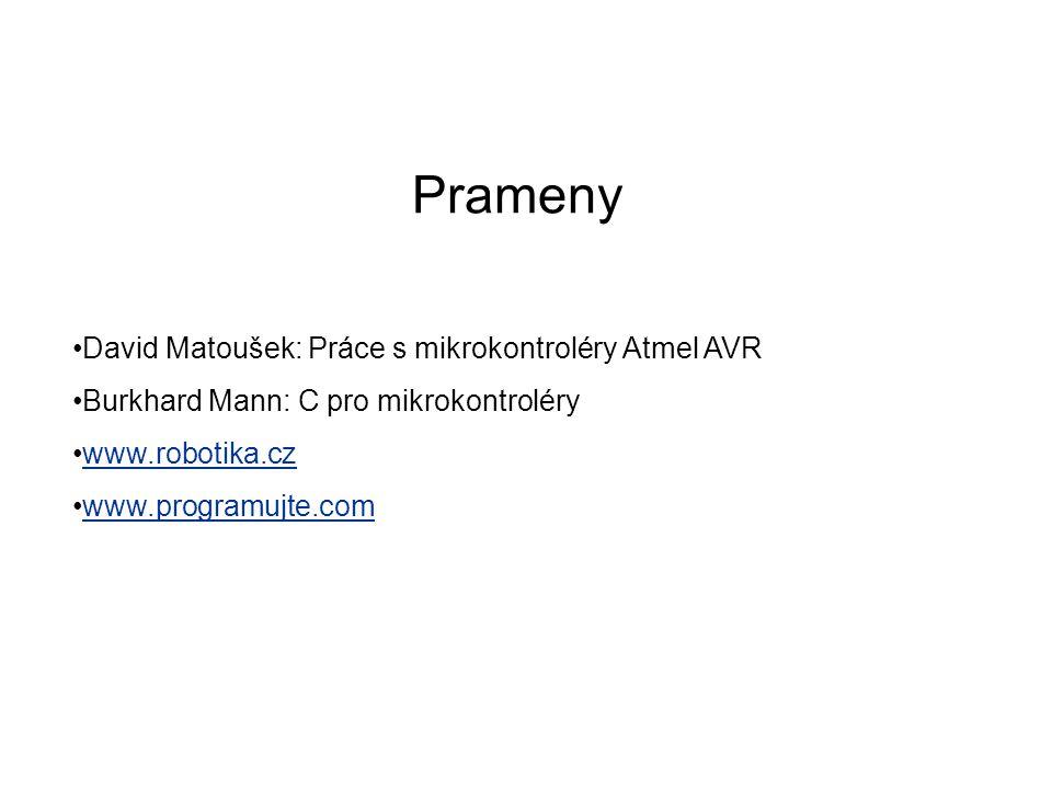Prameny David Matoušek: Práce s mikrokontroléry Atmel AVR