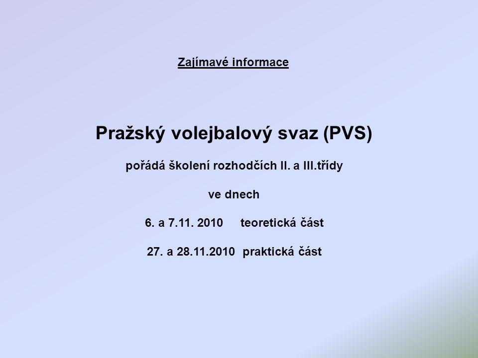 Pražský volejbalový svaz (PVS)
