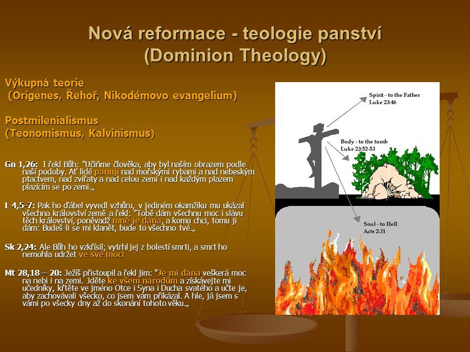 Nová reformace - teologie panství (Dominion Theology)
