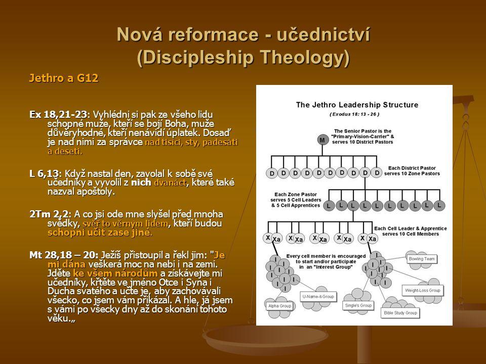 Nová reformace - učednictví (Discipleship Theology)