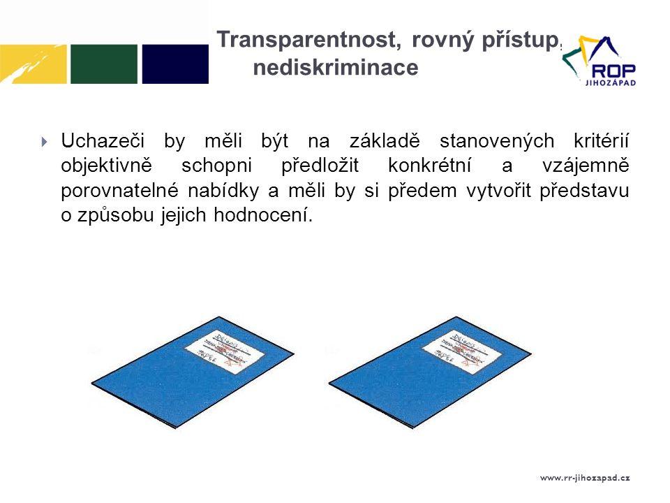 Transparentnost, rovný přístup, nediskriminace
