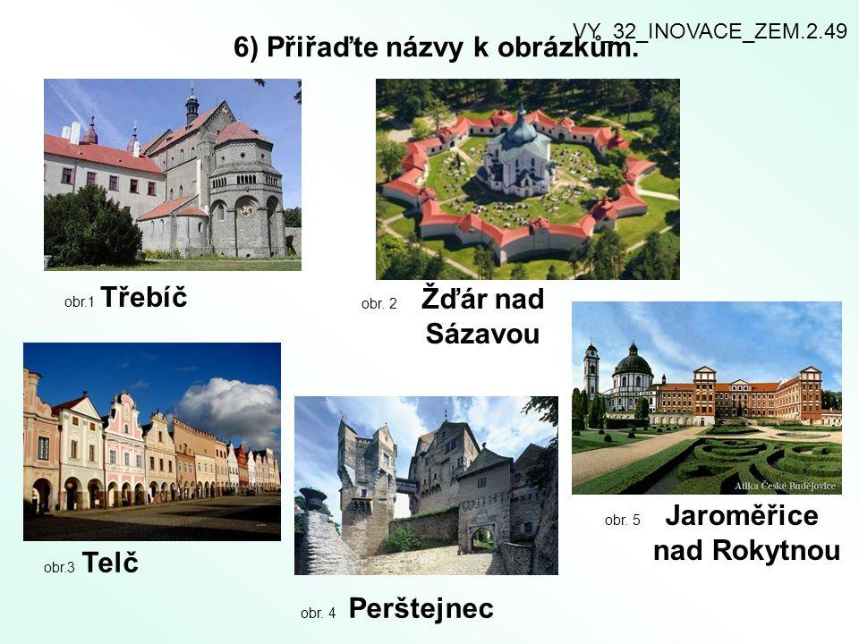 6) Přiřaďte názvy k obrázkům.