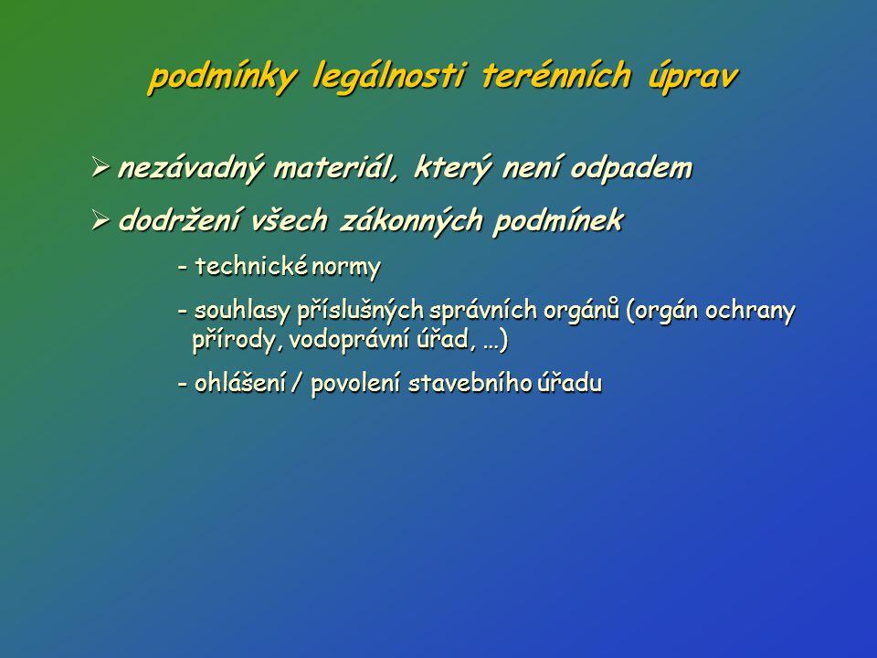 podmínky legálnosti terénních úprav