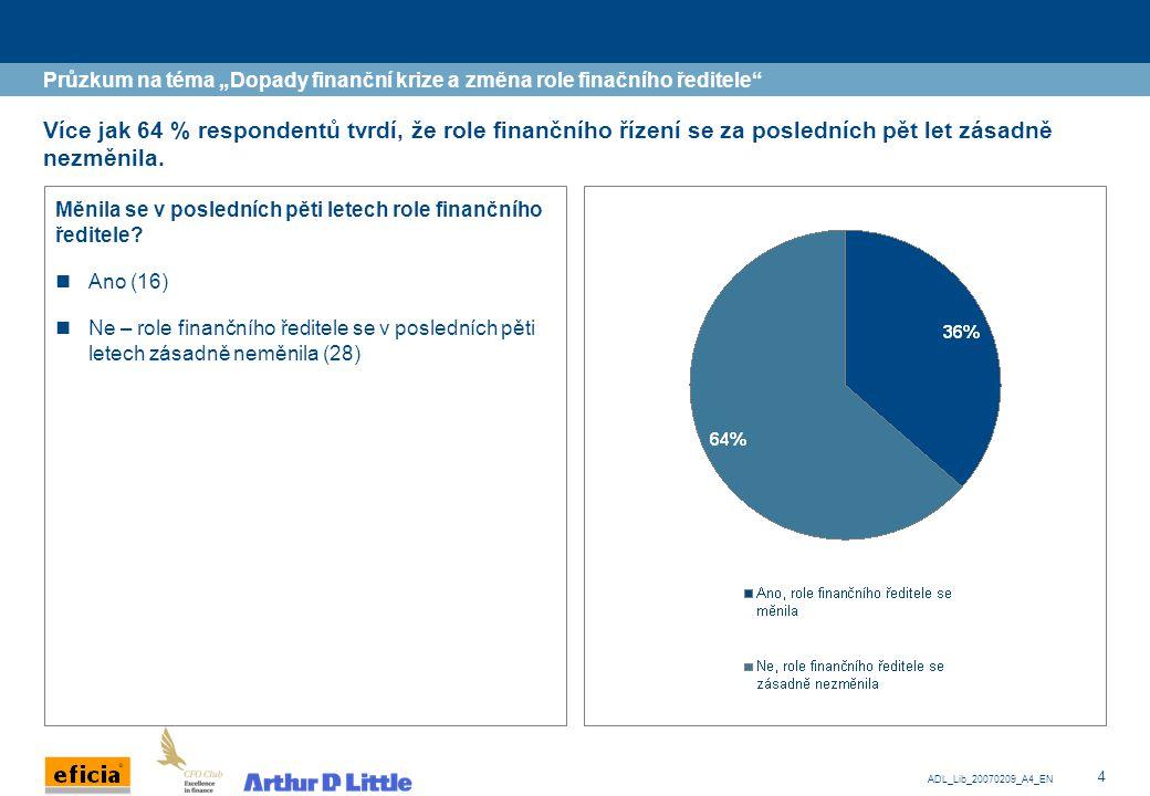 """Průzkum na téma """"Dopady finanční krize a změna role finačního ředitele"""